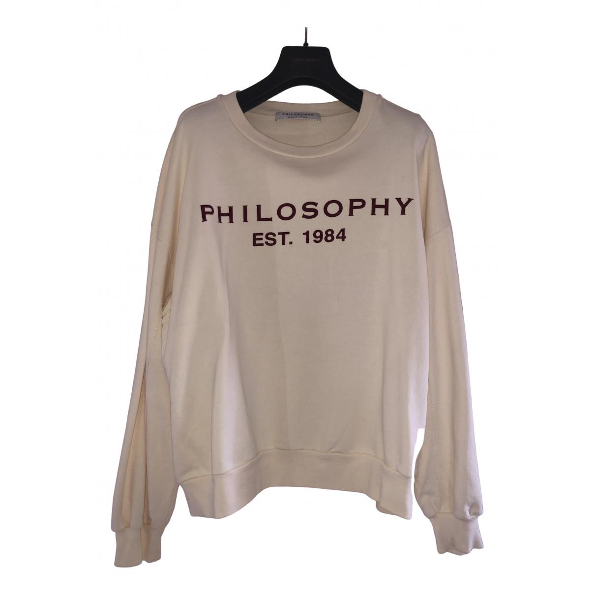 Philosophy Di Lorenzo Serafini - Pull   pour femme en coton - beige