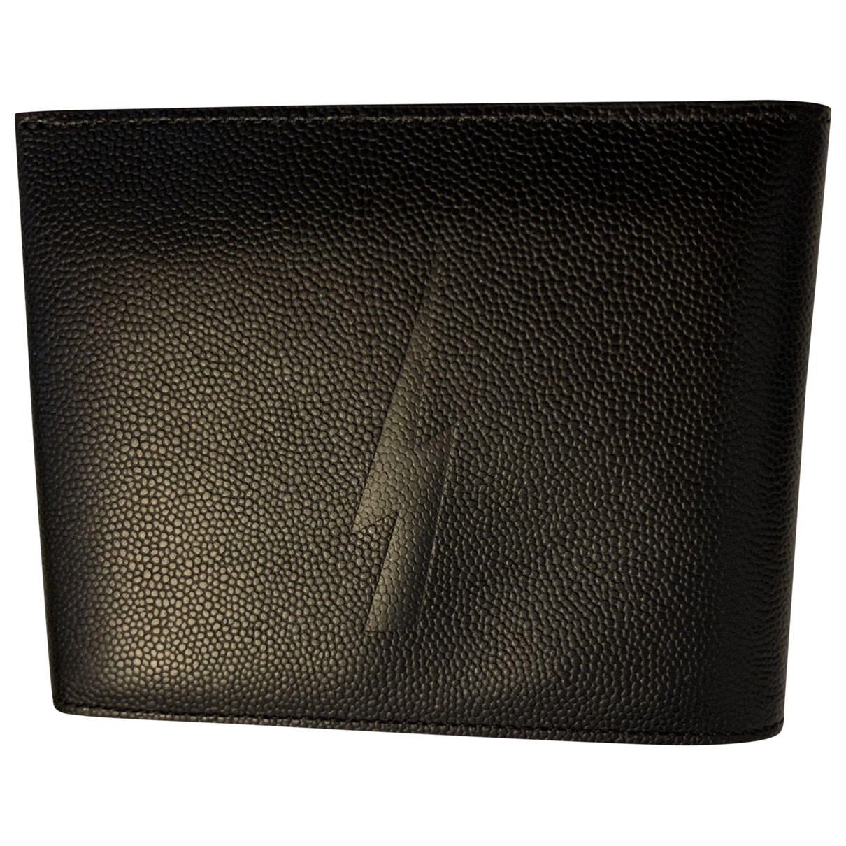 Neil Barrett \N Black Leather Small bag, wallet & cases for Men \N