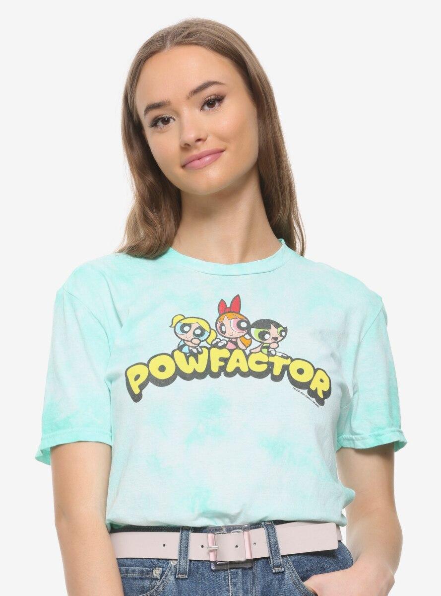 The Powerpuff Girls Powfactor Tie-Dye Women's T-Shirt