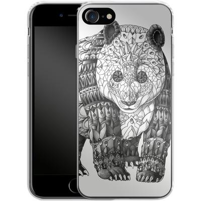 Apple iPhone 8 Silikon Handyhuelle - Panda von BIOWORKZ