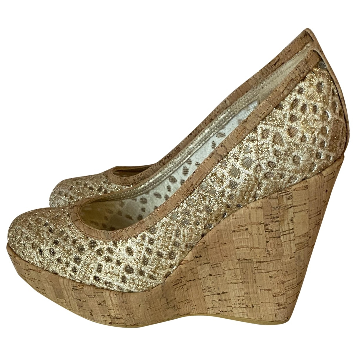 Stuart Weitzman \N Multicolour Glitter Heels for Women 38 EU
