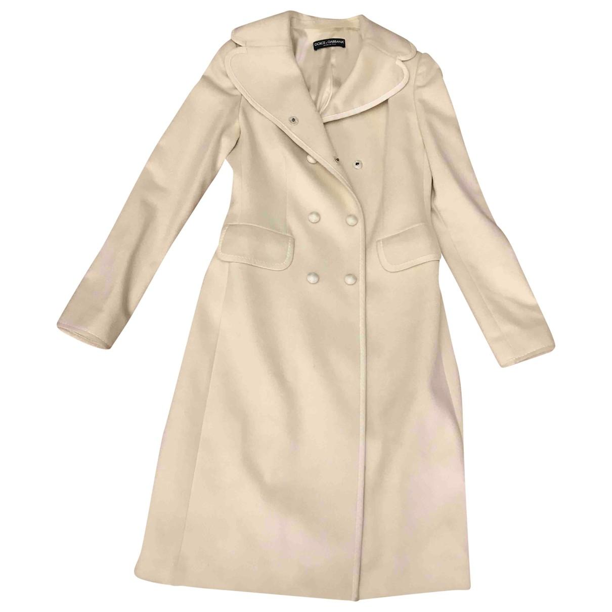 Dolce & Gabbana - Manteau   pour femme en cachemire - blanc