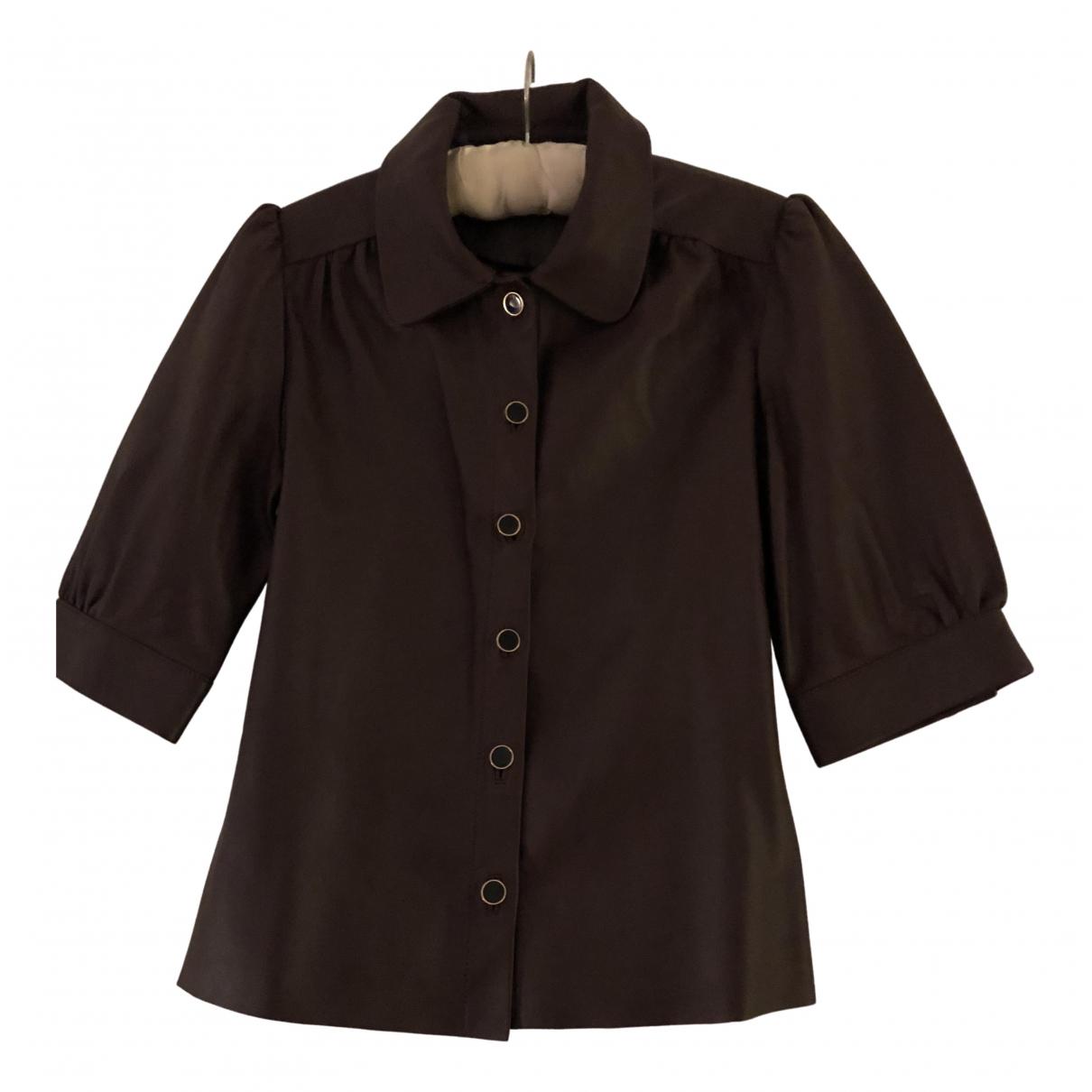 Gestuz - Top   pour femme en cuir - bordeaux