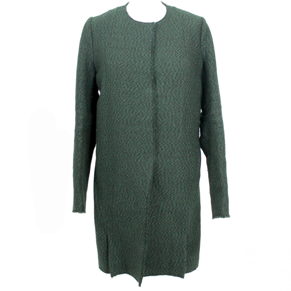 Marni \N Maentel in  Gruen Wolle