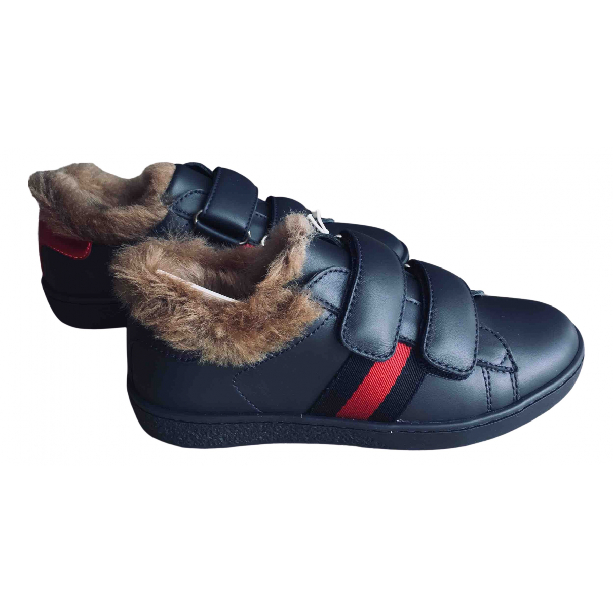Gucci \N Navy Leather Trainers for Kids 27 FR