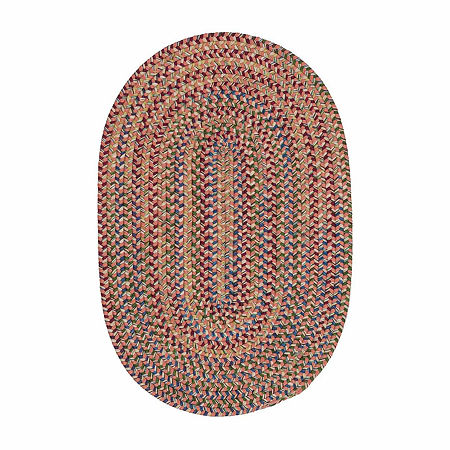 Colonial Mills Andreanna Reversible Braided Oval Rug, One Size , Orange