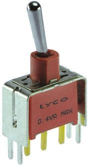 TE Connectivity SPDT Toggle Switch, Latching, PCB
