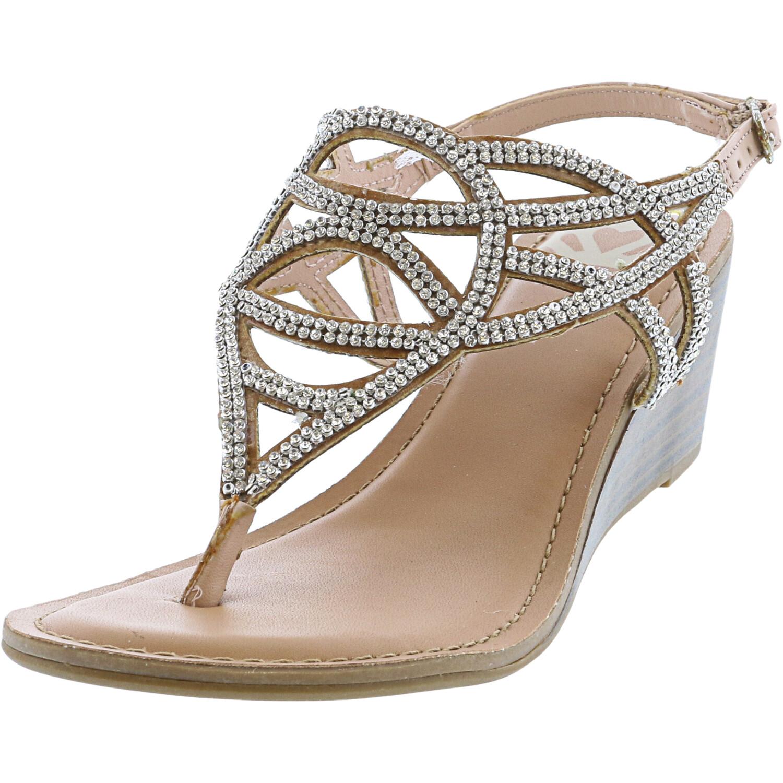 Fergalicious Women's Courtesy Blush Ankle-High Wedged Sandal - 5M