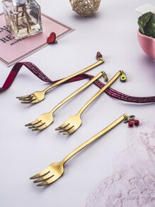 4pcs Fruit Pendant Spoon