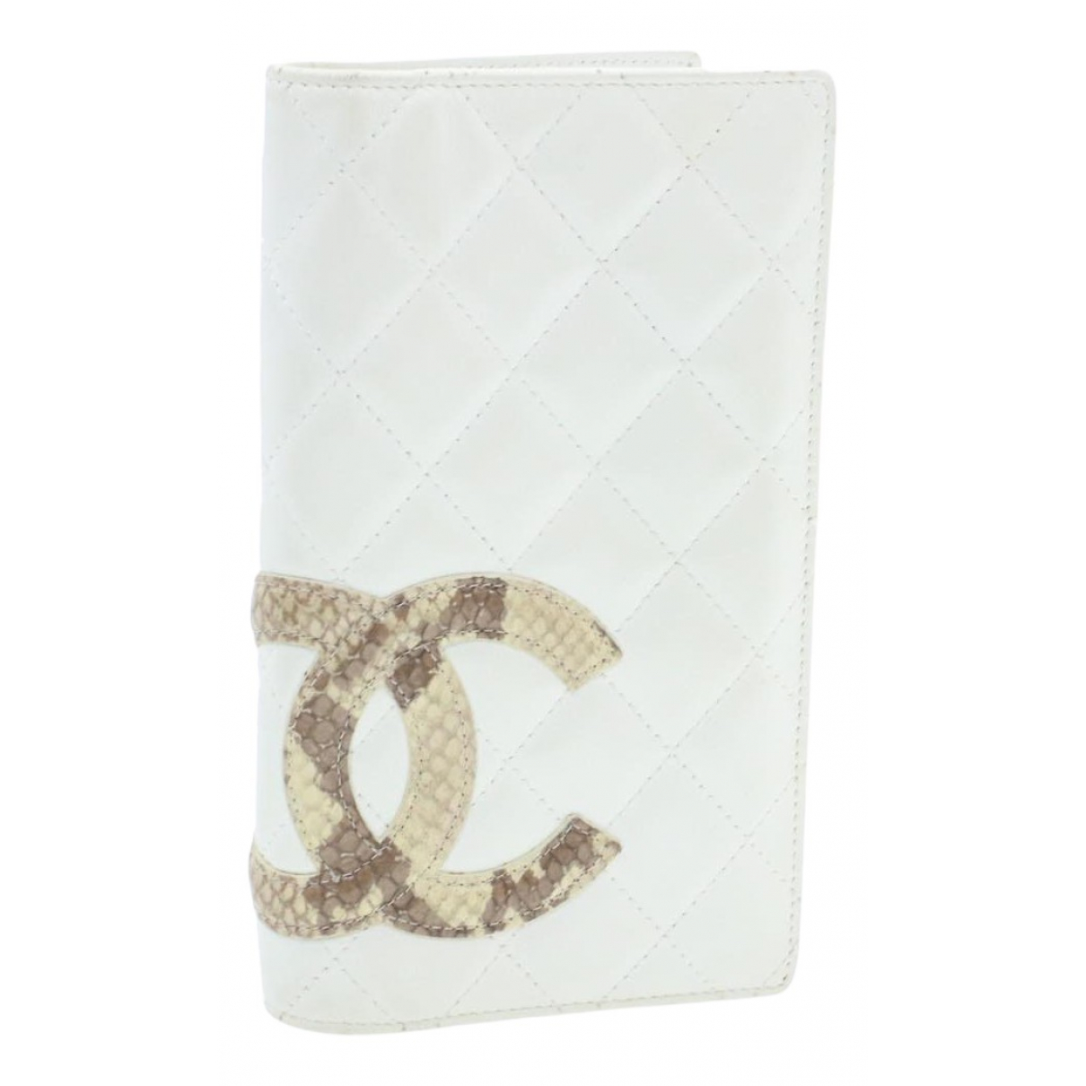 Chanel Cambon White Leather wallet for Women N