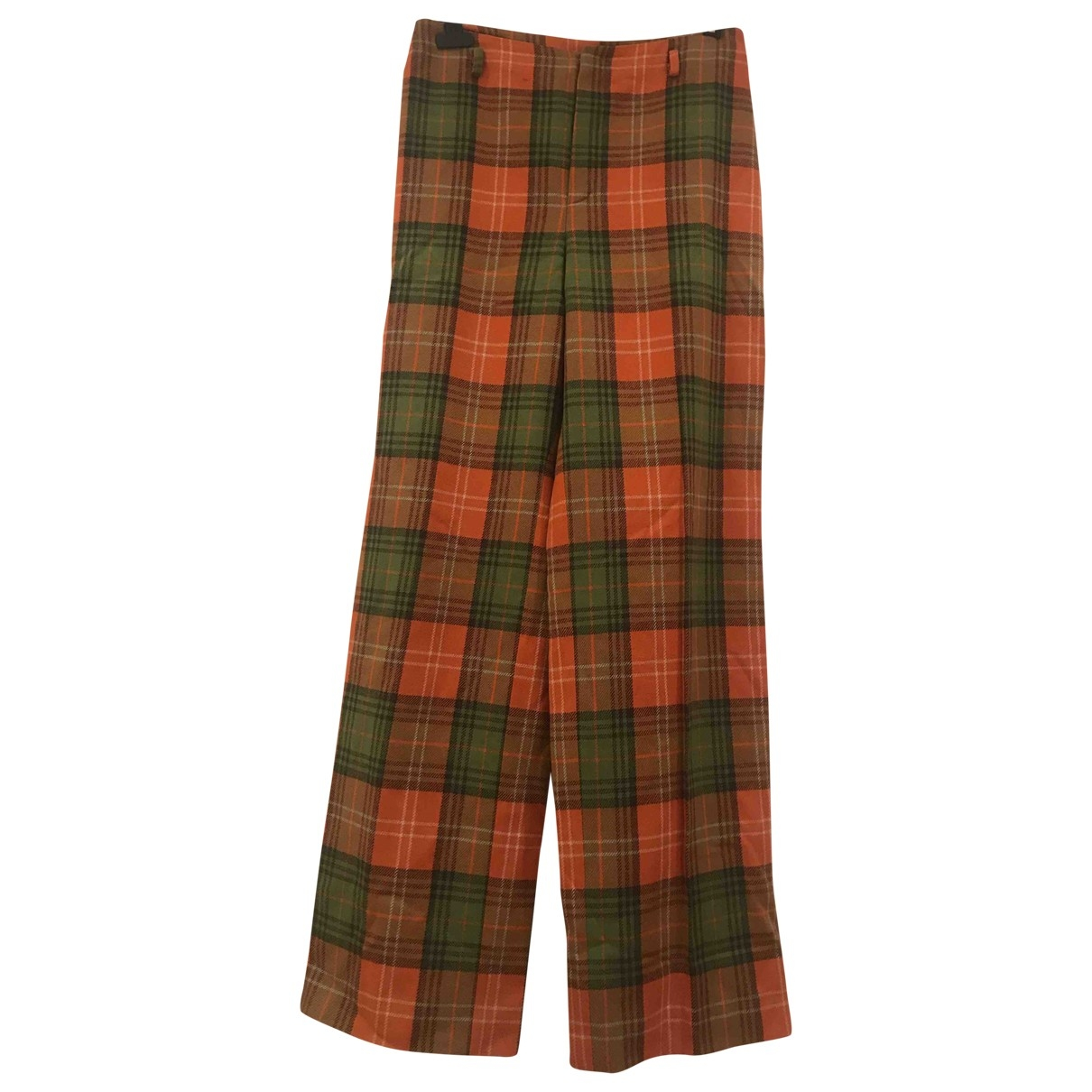Burberry \N Multicolour Wool Trousers for Women 42 FR