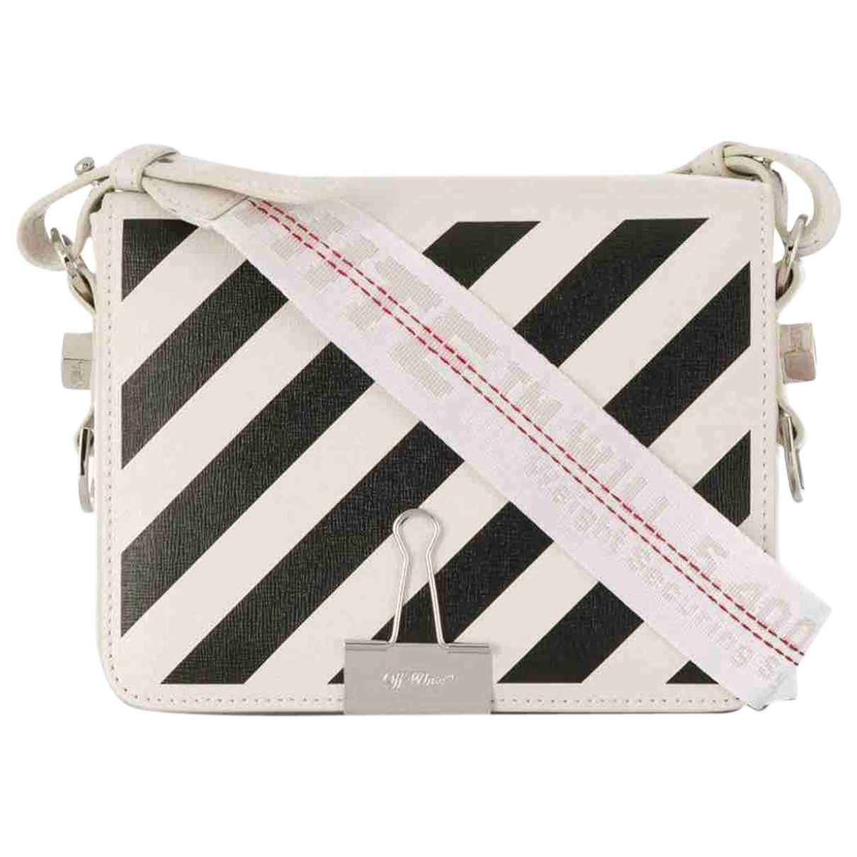 Off-white Binder White Leather handbag for Women \N