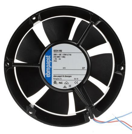 ebm-papst , 24 V dc, DC Axial Fan, 172 x 51mm, 410m³/h, 18W, IP68