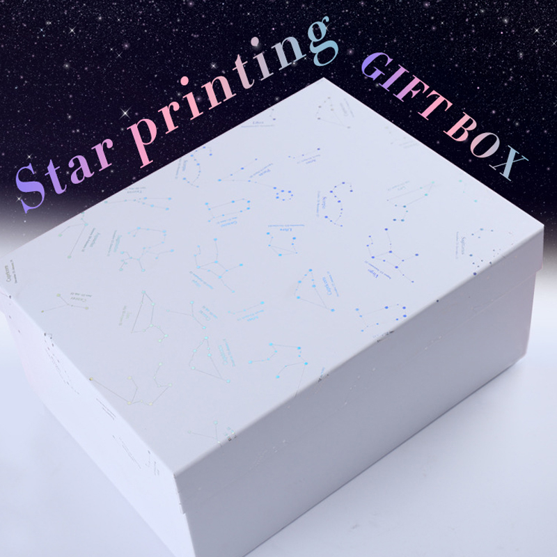Exquisite Constellation 4-size Black and White Paperboard Gift Box