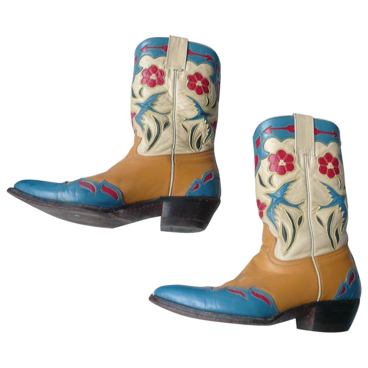 - Boots Hippie Chic pour femme en cuir - multicolore