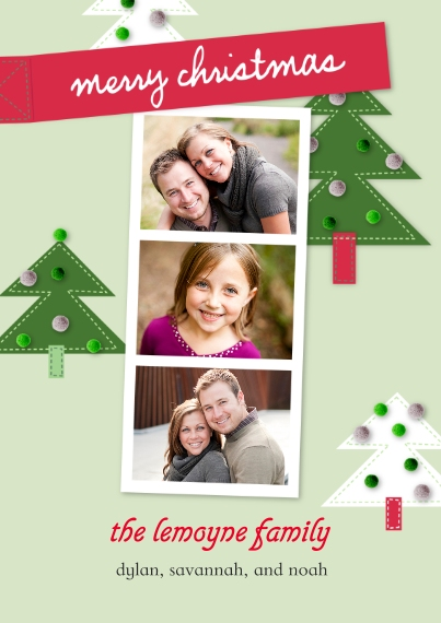 Christmas Photo Cards Flat Glossy Photo Paper Cards with Envelopes, 5x7, Card & Stationery -Holiday Memories