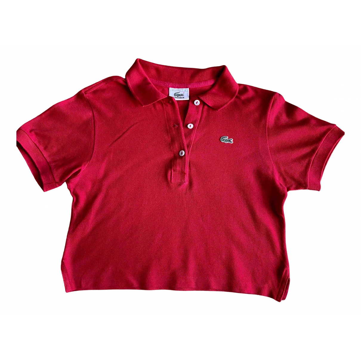 Lacoste \N Red Cotton  top for Women 38 FR