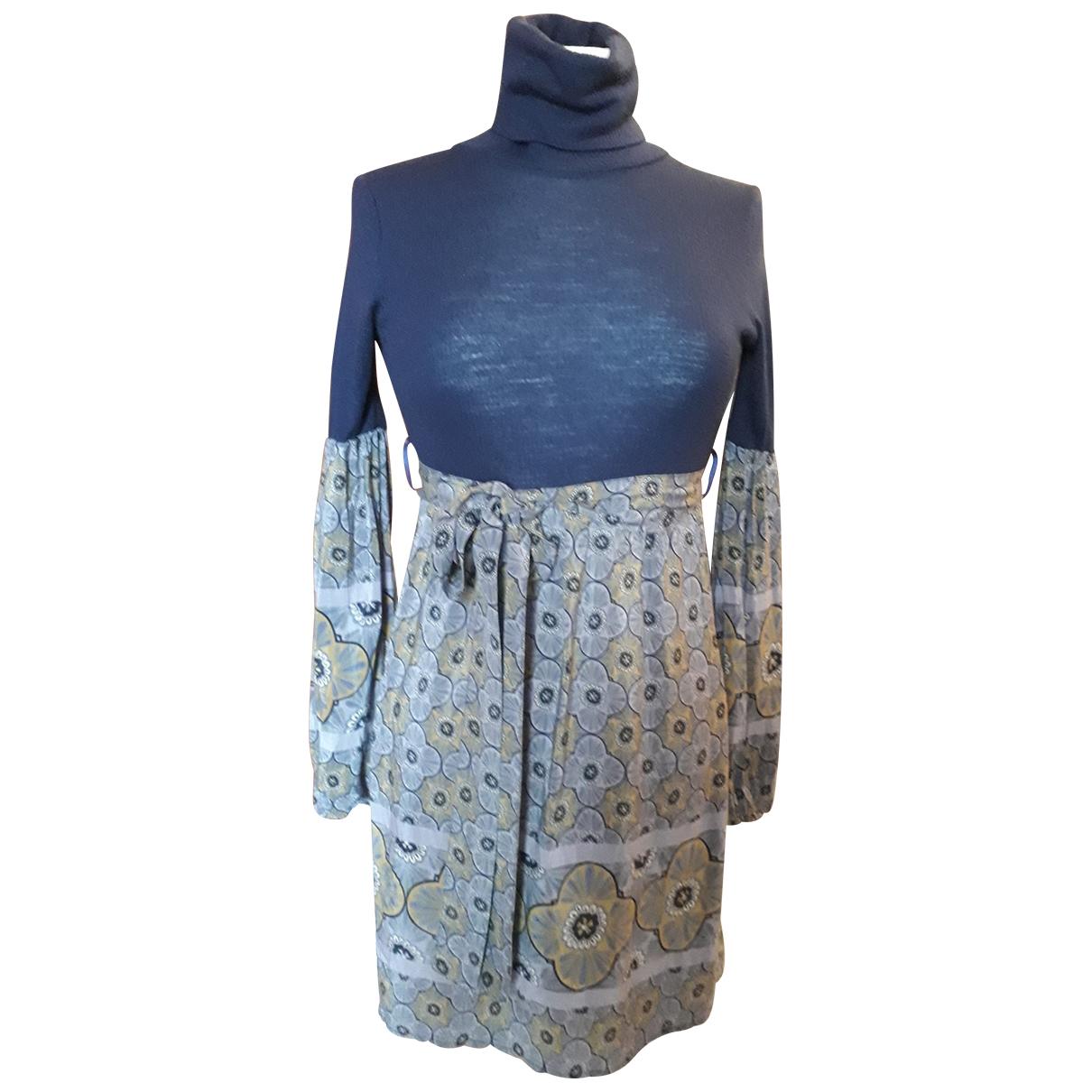Patrizia Pepe - Robe   pour femme en soie - bleu