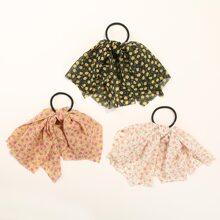 3pcs Ditsy Floral Pattern Scrunchie
