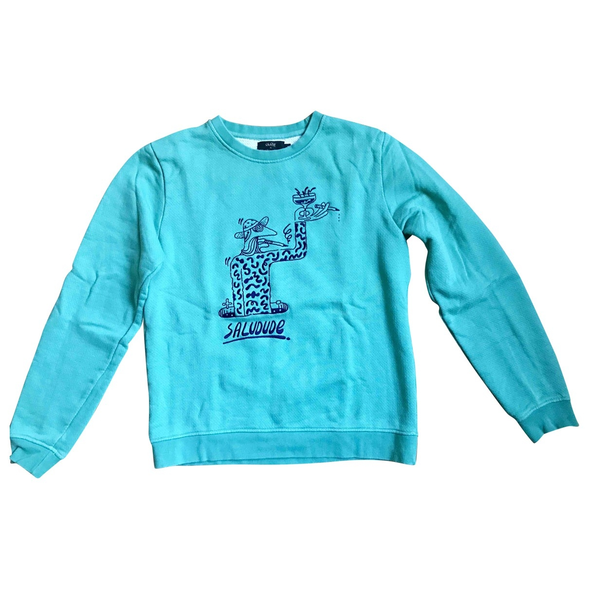 Non Signé / Unsigned \N Green Cotton Knitwear & Sweatshirts for Men S International