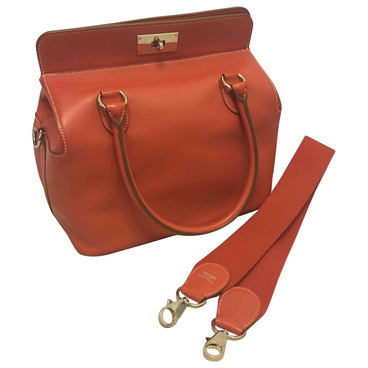 Bolso  Toolbox de Cuero Hermes