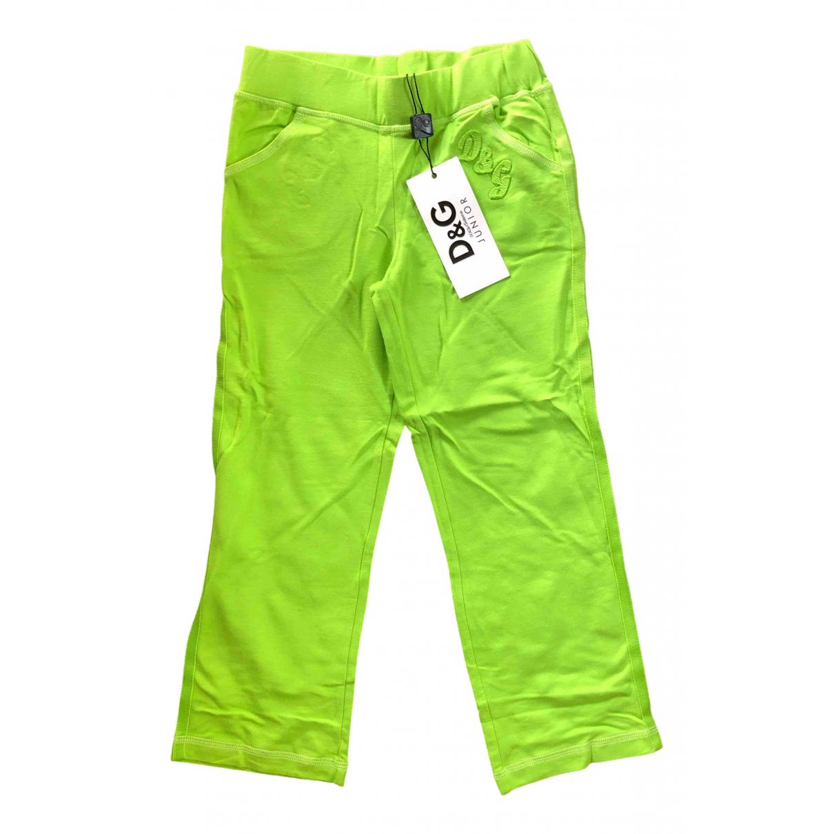 D&g - Pantalon   pour enfant en coton - vert