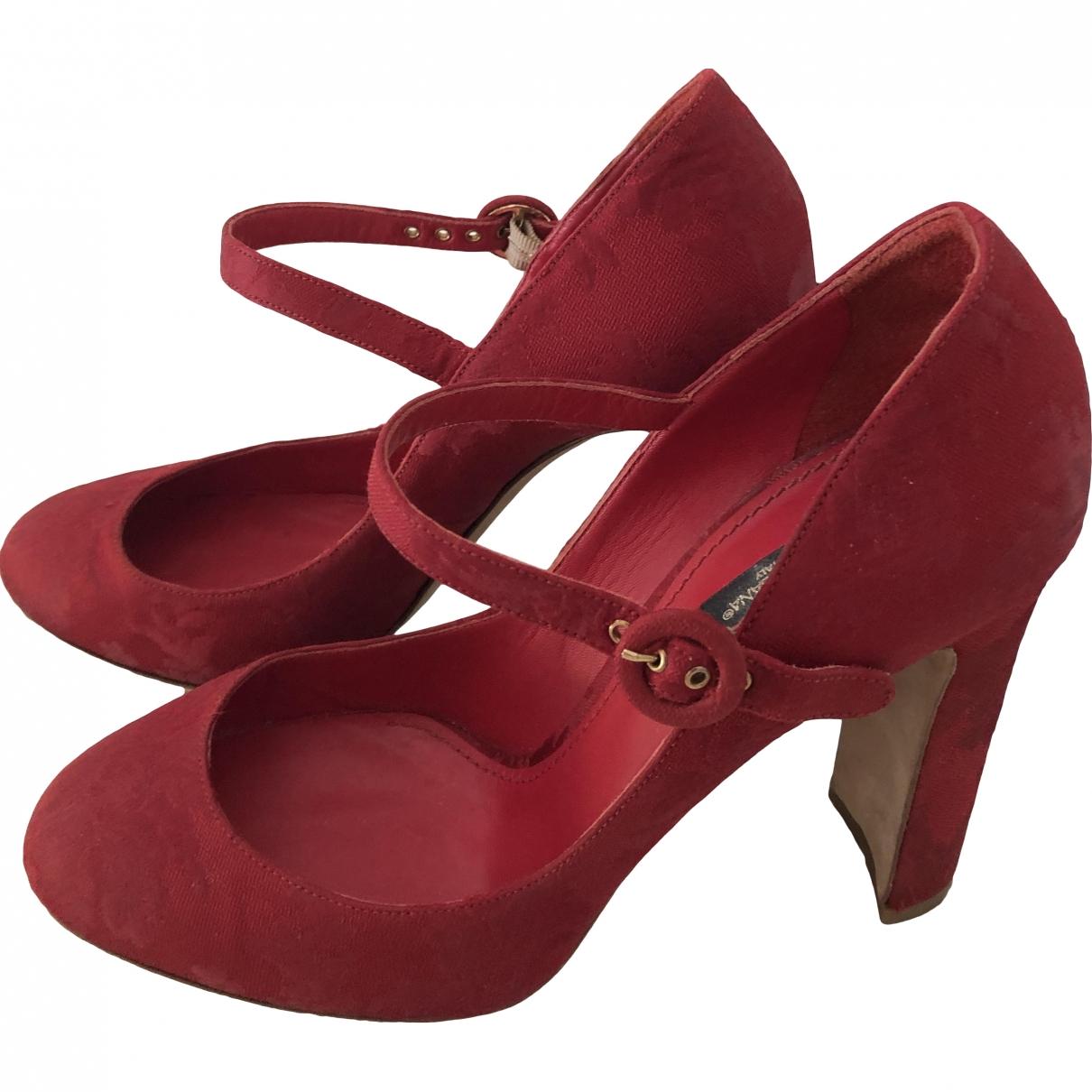 Dolce & Gabbana \N Red Suede Heels for Women 40 EU