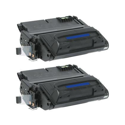 Compatible HP 42A Q5942A cartouche de toner noire - boite economique - 2/paquet