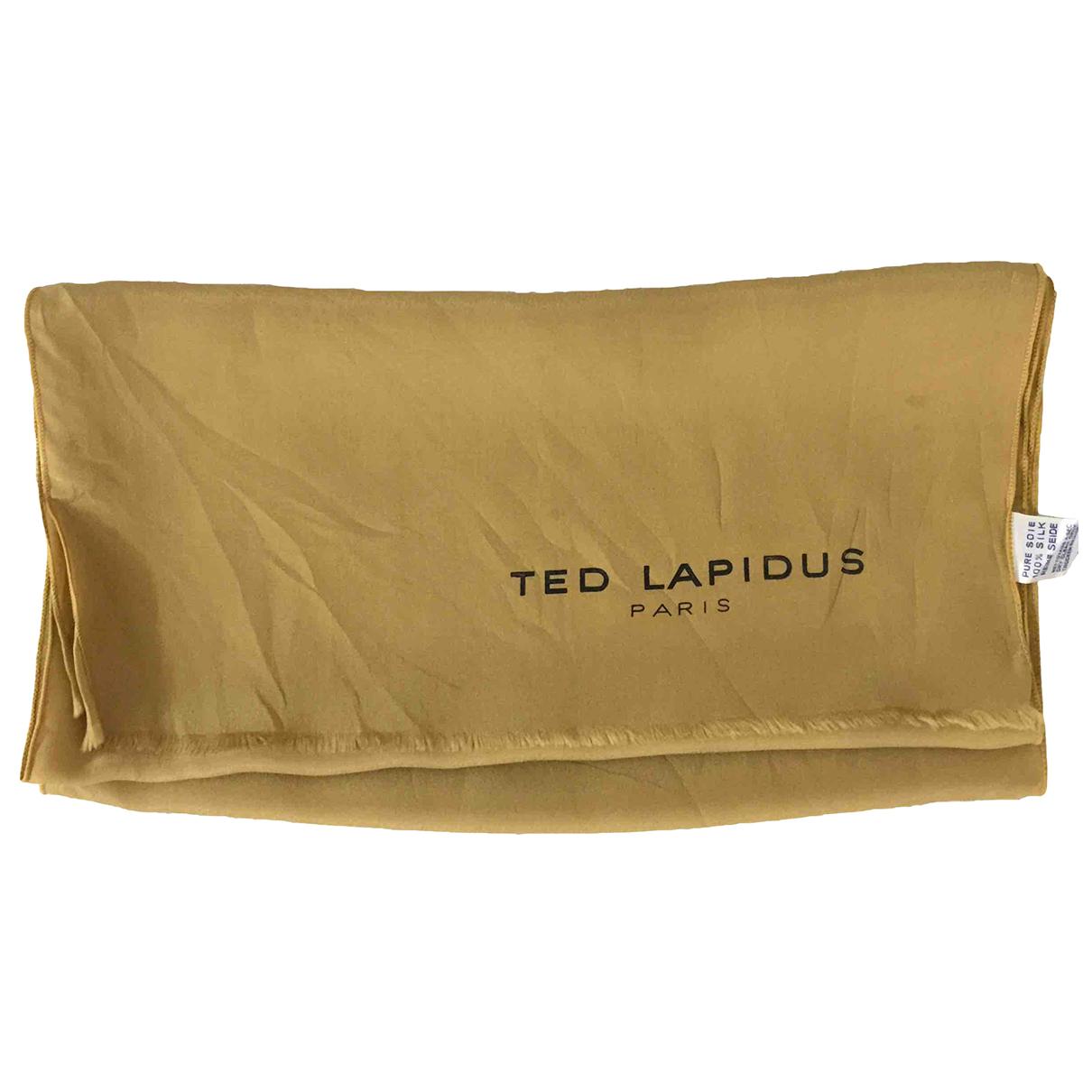 Ted Lapidus \N Gold Silk Silk handkerchief for Women \N