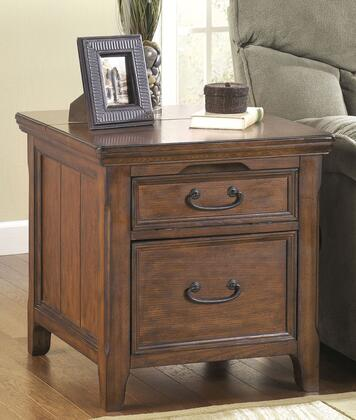 Woodboro T478-17 24 Media End Table with Power Outlet  Filing Drawer and Molding Detail in Dark