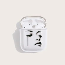 1pc Face Pattern AirPods Case