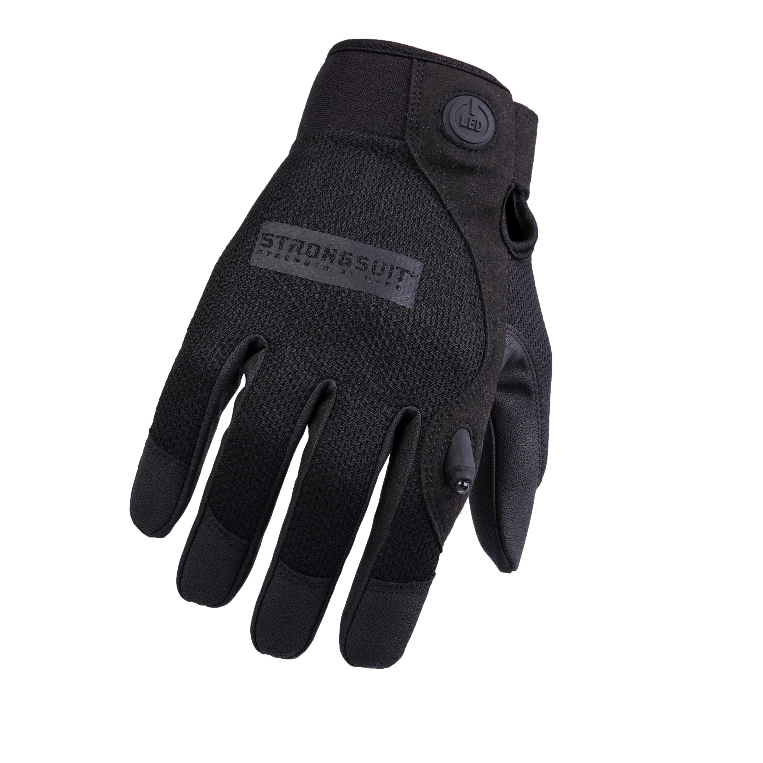 Second Skin, LED Gloves, Black, Medium
