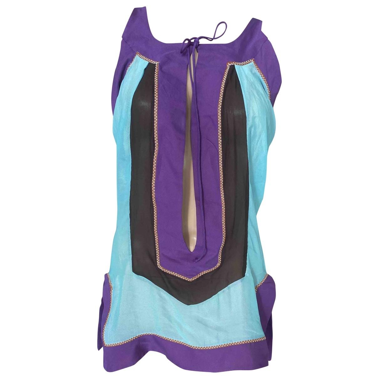 Dsquared2 - Top   pour femme en soie - multicolore