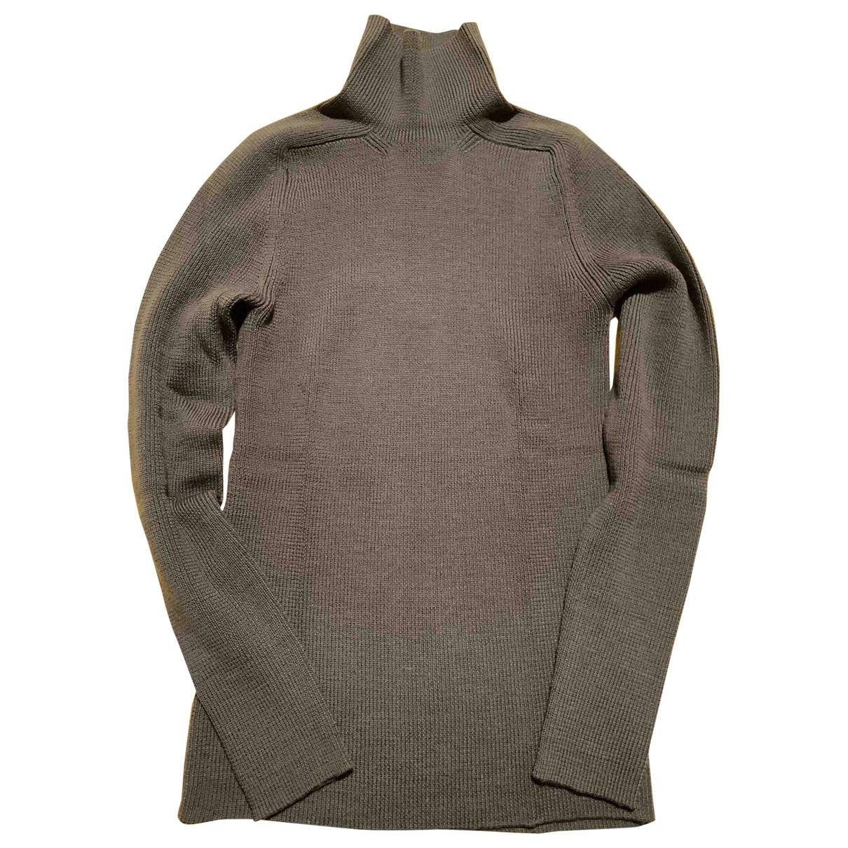 Y-3 By Yohji Yamamoto \N Khaki Wool Knitwear for Women 38 FR