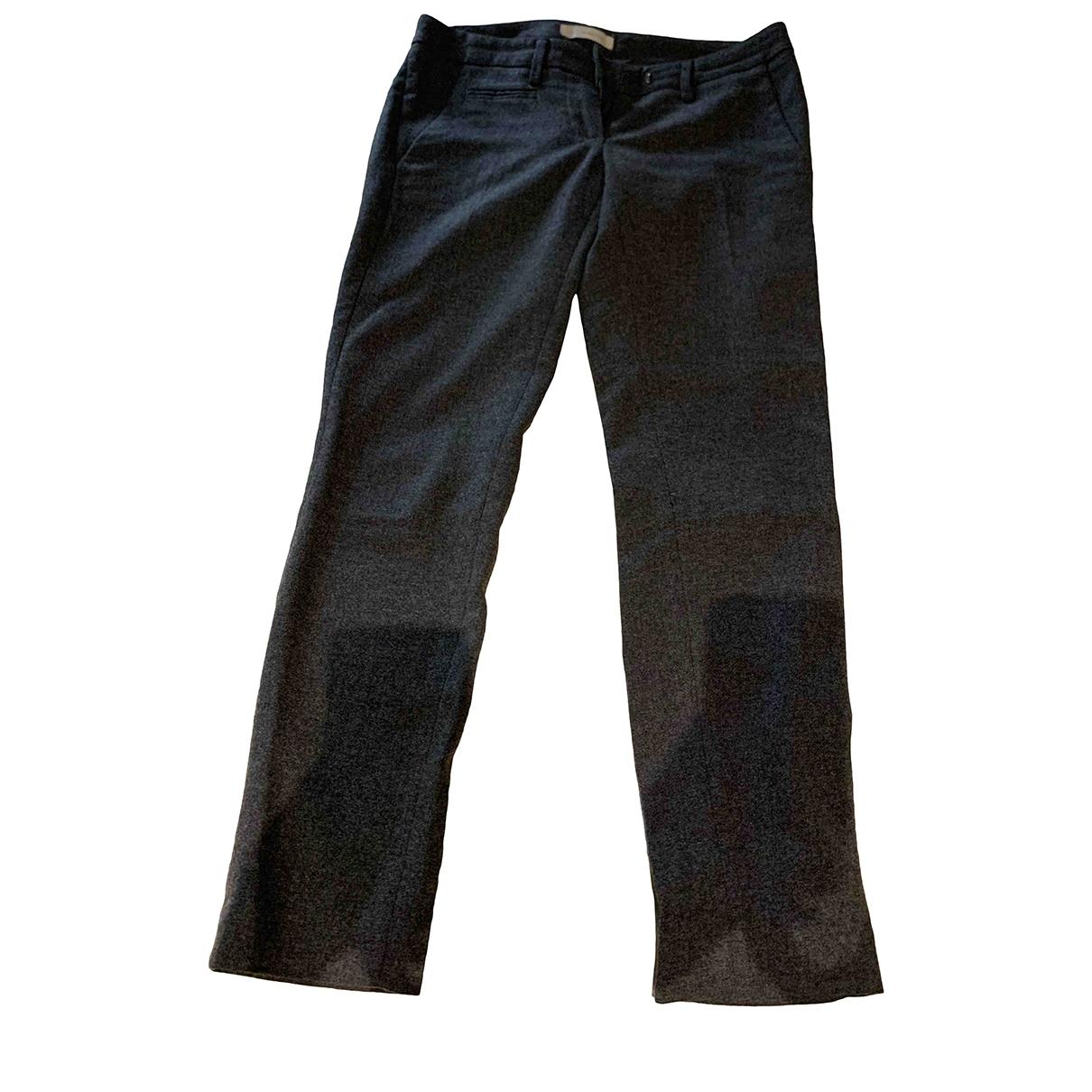 Dondup \N Grey Wool Trousers for Women 40 IT