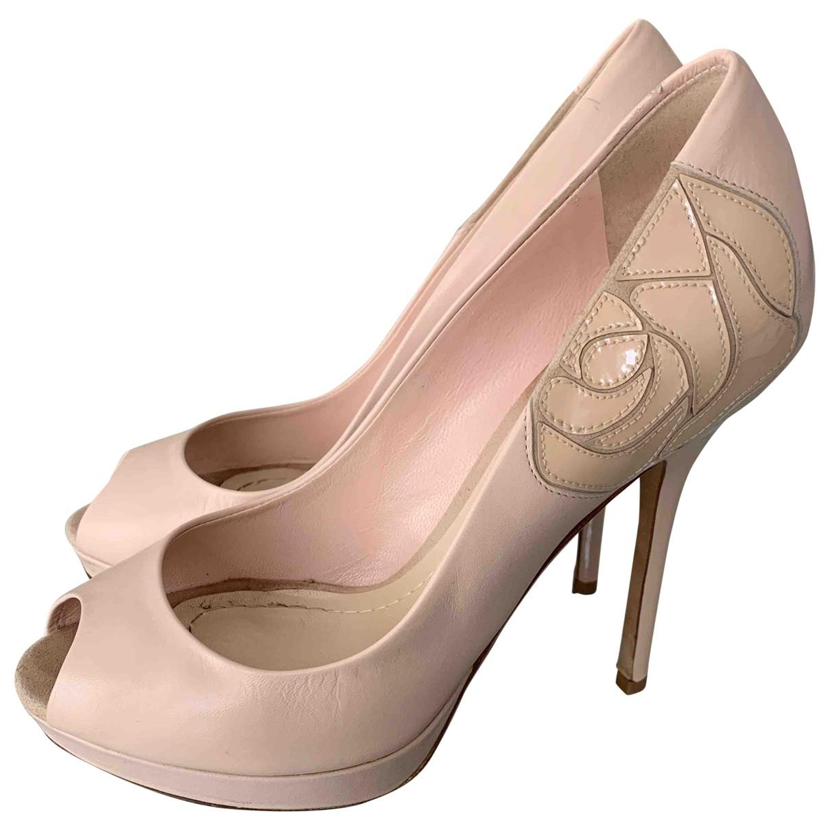 Dior - Espadrilles   pour femme en cuir - rose