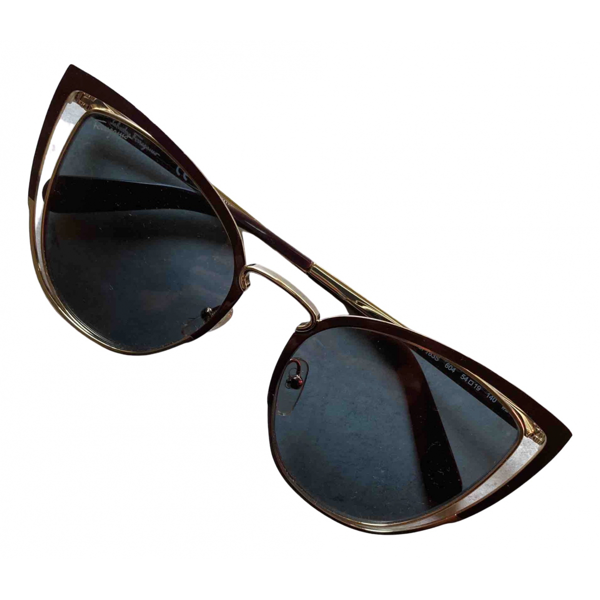 Salvatore Ferragamo \N Brown Metal Sunglasses for Women \N