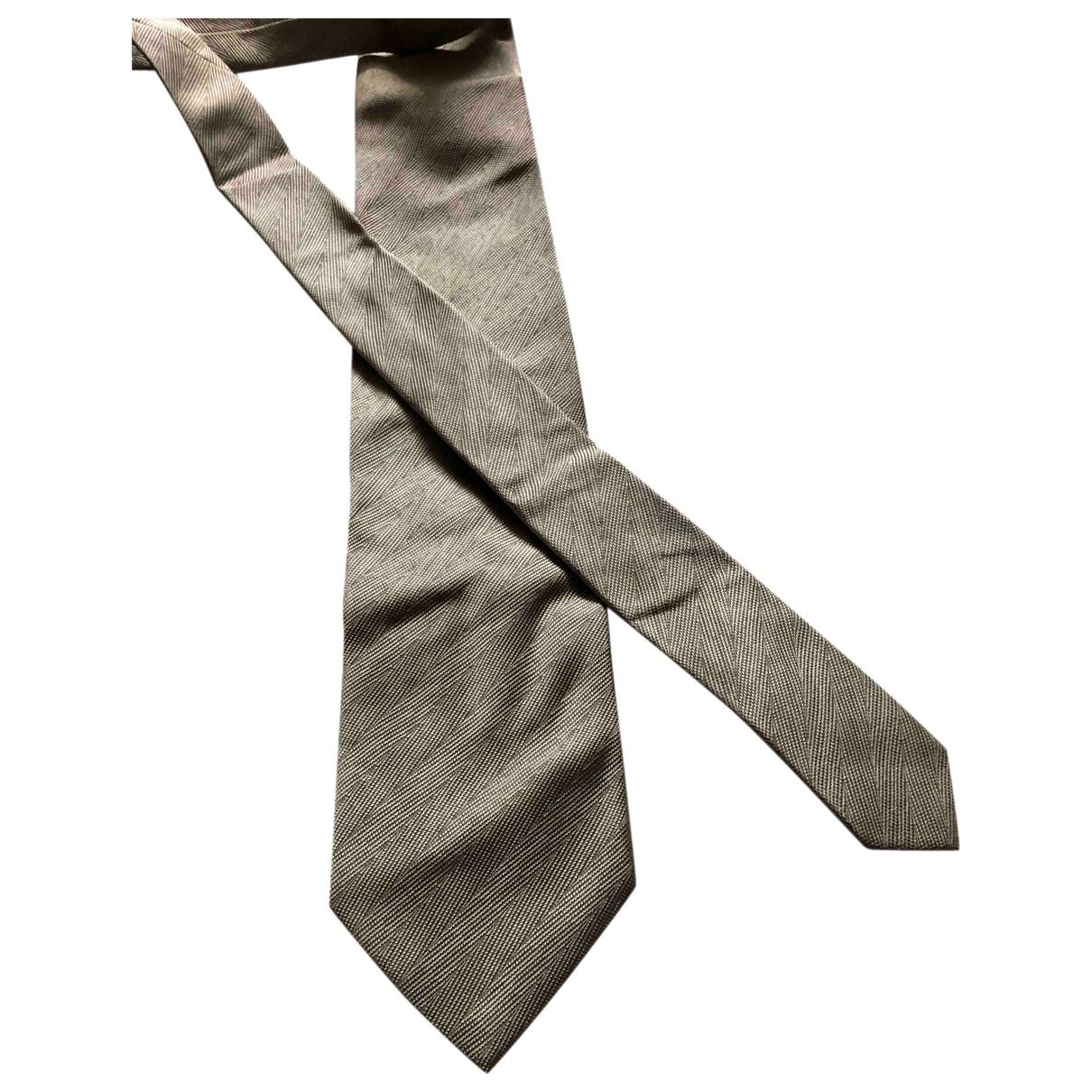 Dolce & Gabbana - Cravates   pour homme en soie - gris