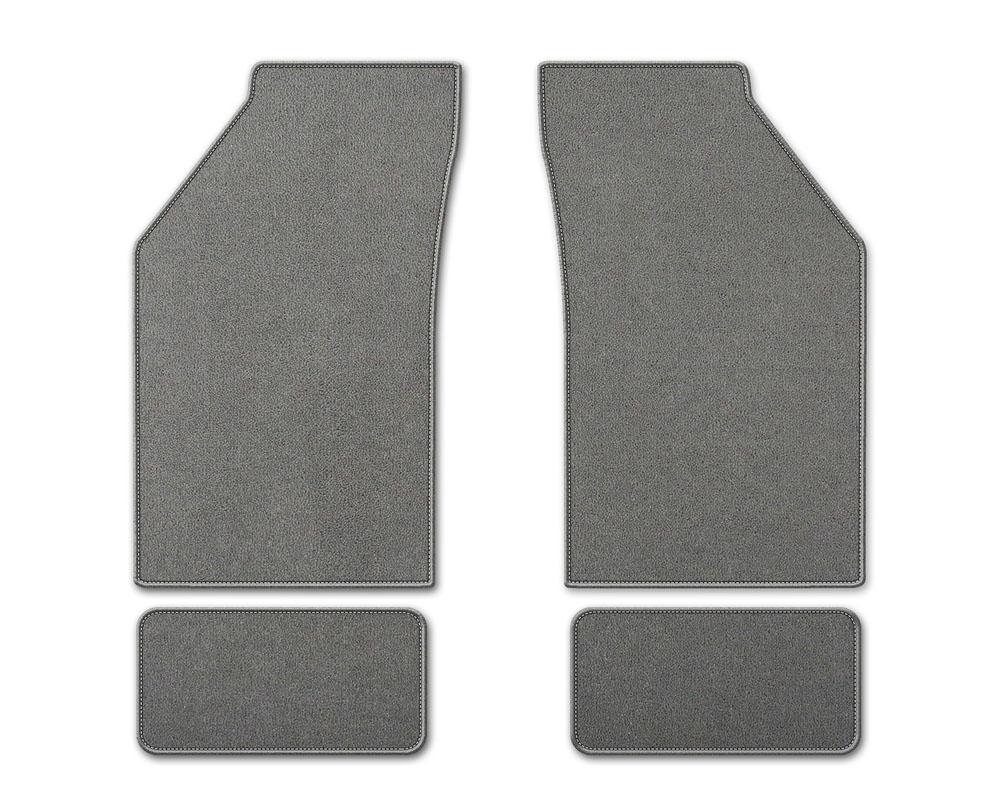 Coverking DFMBM37TT7525B1 Premium Plush Designer Floor Mats Style B Gray Front Center Toyota Tundra 2007-2013
