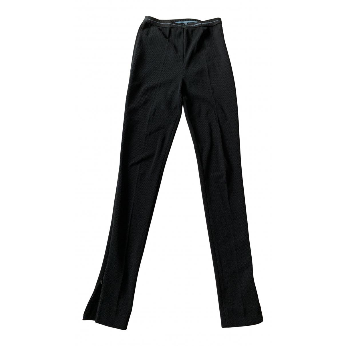 Prada N Black Trousers for Women 38 IT