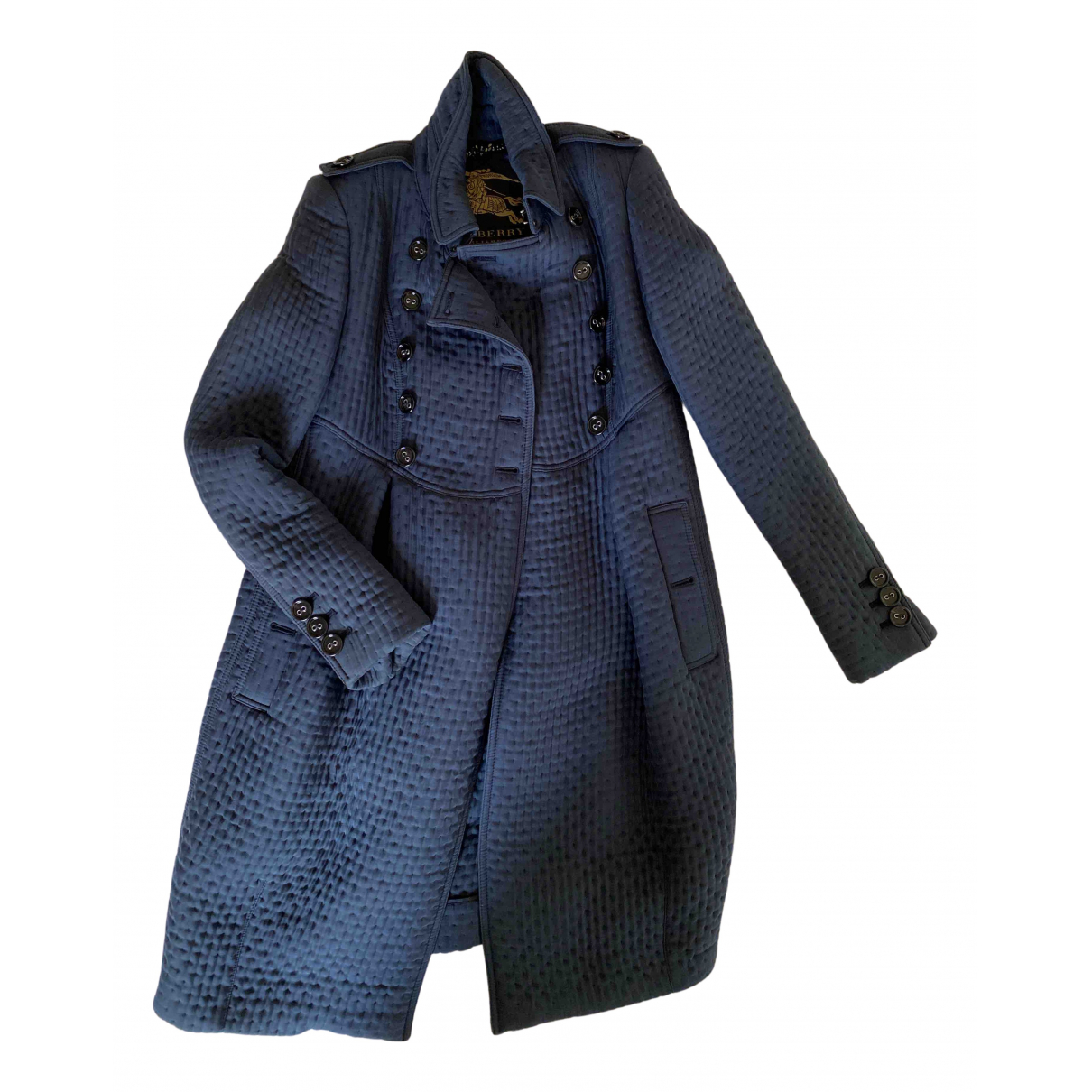 Burberry N Blue Wool coat for Women 40 IT