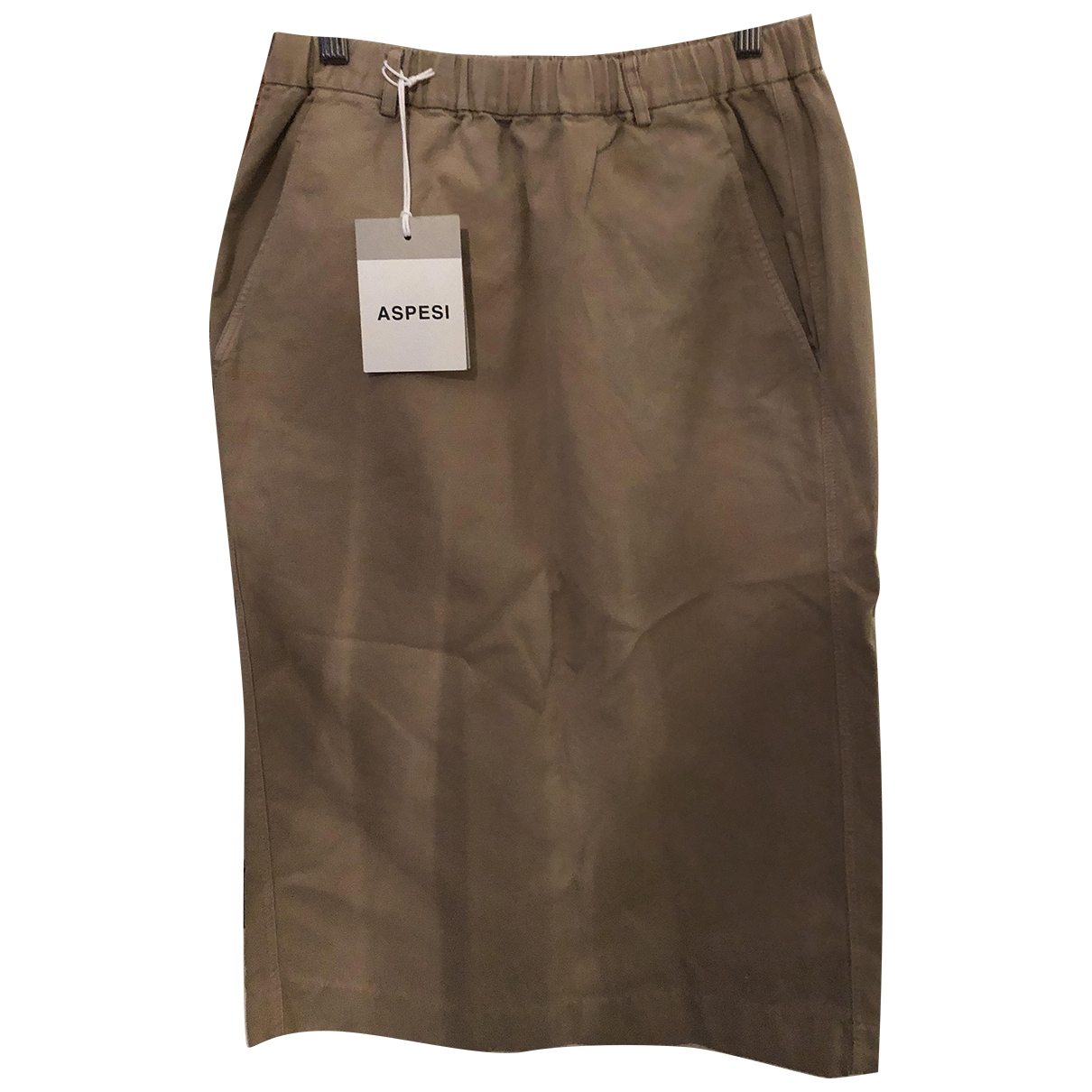 Aspesi \N Camel Cotton skirt for Women 42 IT
