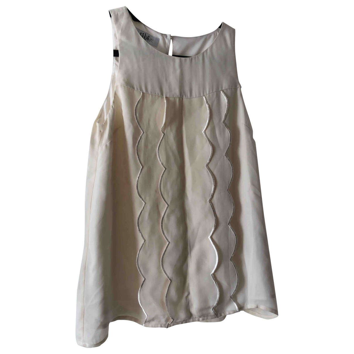Tibi \N Ecru Silk  top for Women 2 0-5