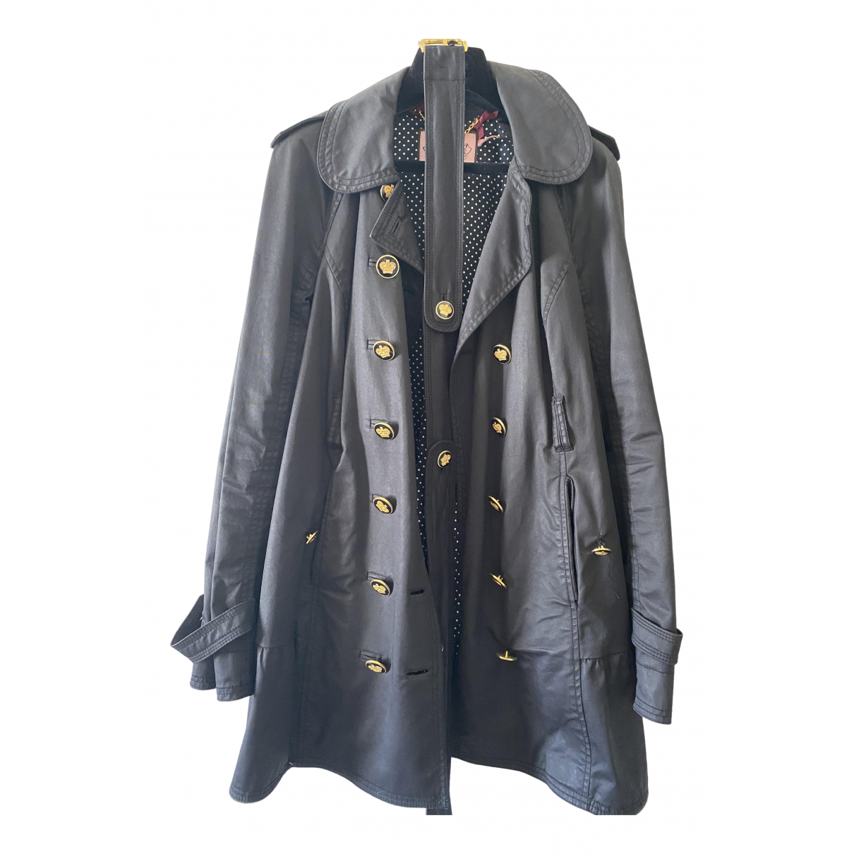 Juicy Couture \N Trench in  Schwarz Baumwolle