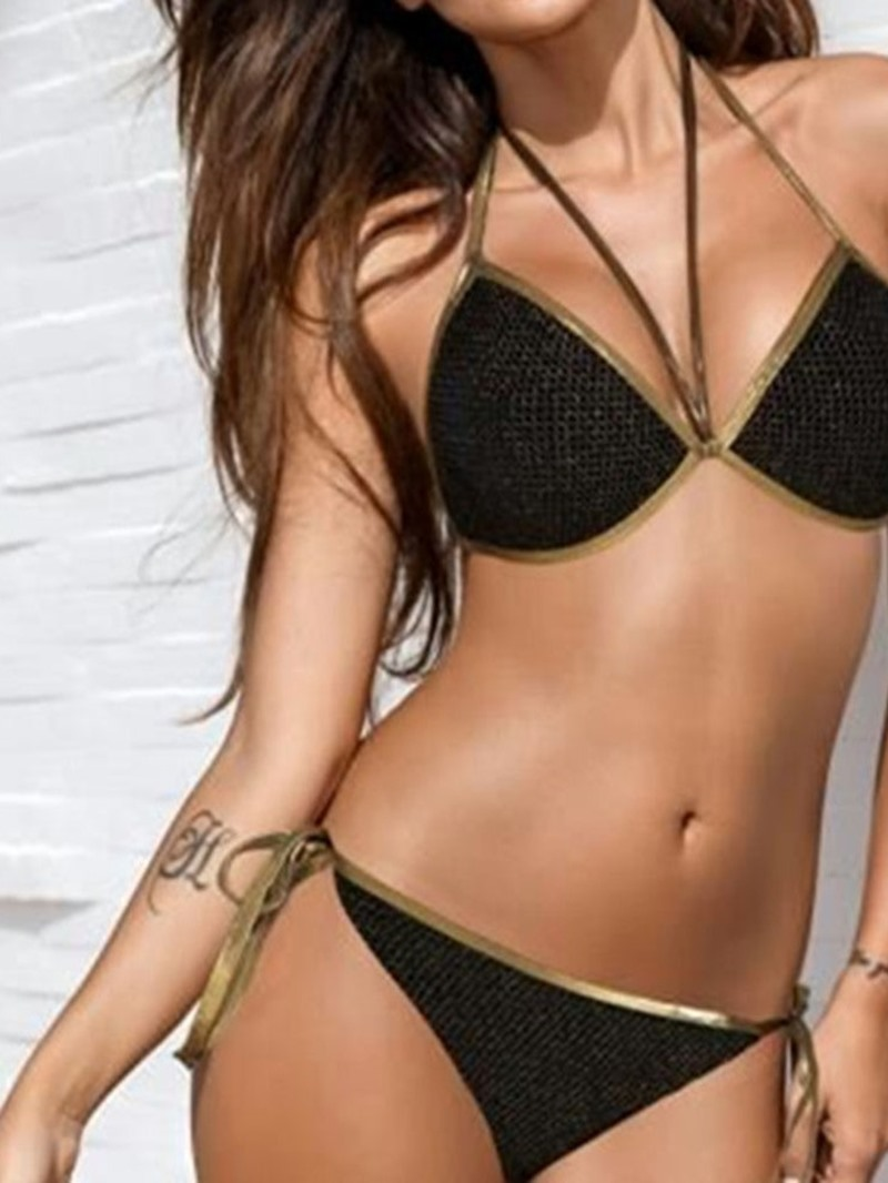 Ericdress Patchwork Sexy Lace-up Swimwear
