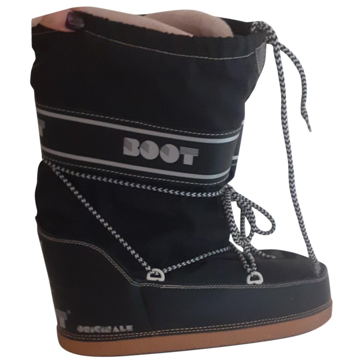 Moon Boot \N Stiefel in  Schwarz Leinen