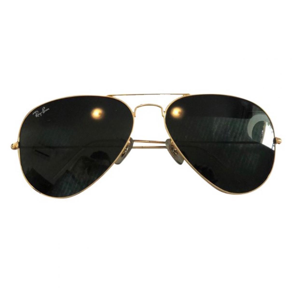Ray-ban Aviator Black Metal Sunglasses for Women \N