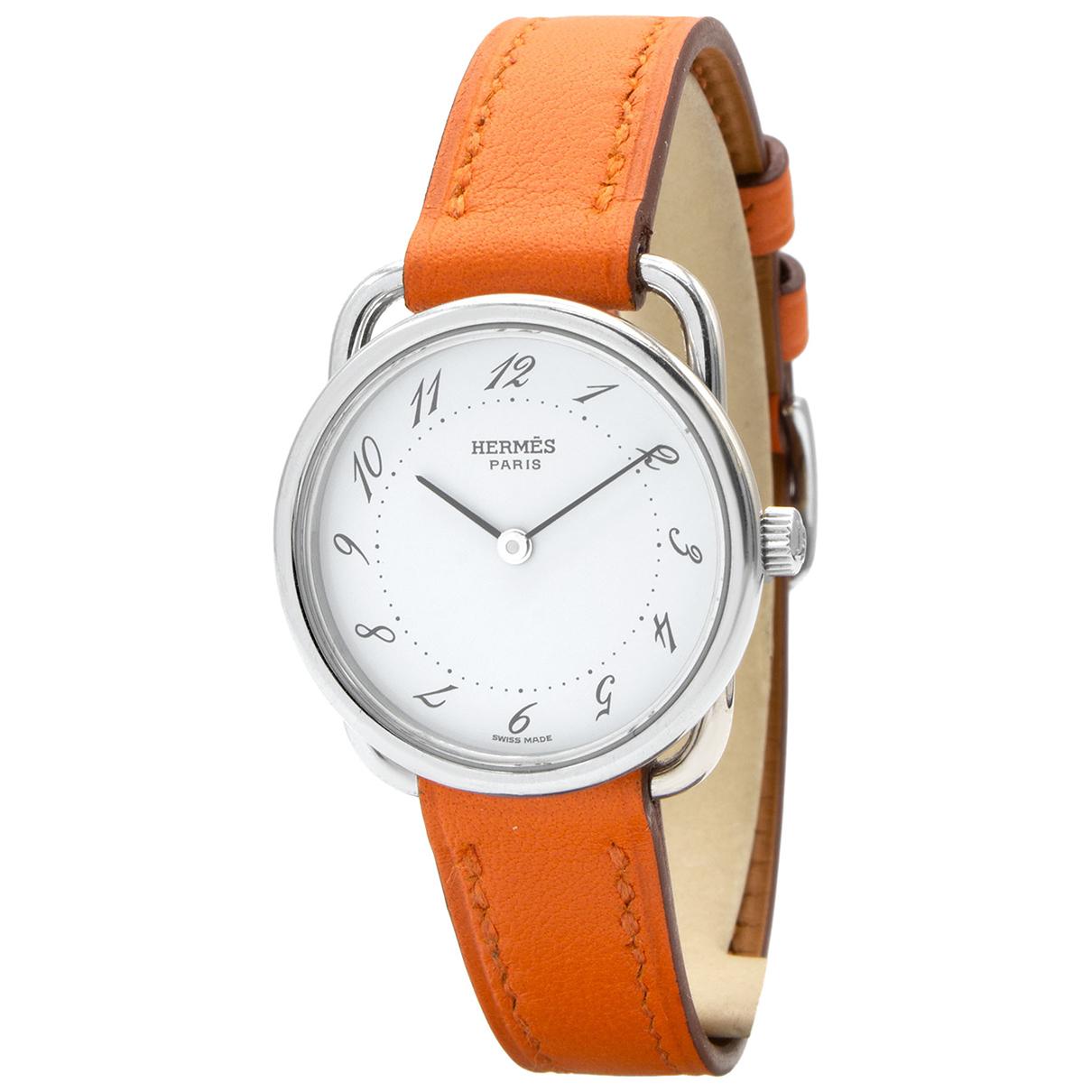 Hermes Arceau Uhr in  Silber Stahl