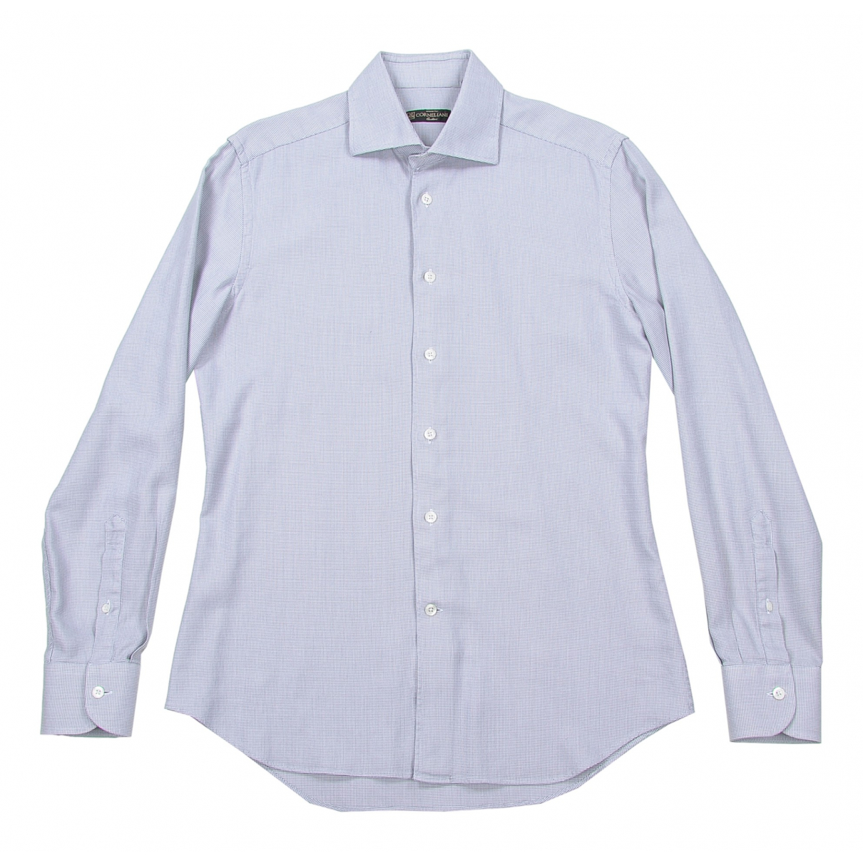 Corneliani \N Grey Cotton Shirts for Men 38 EU (tour de cou / collar)