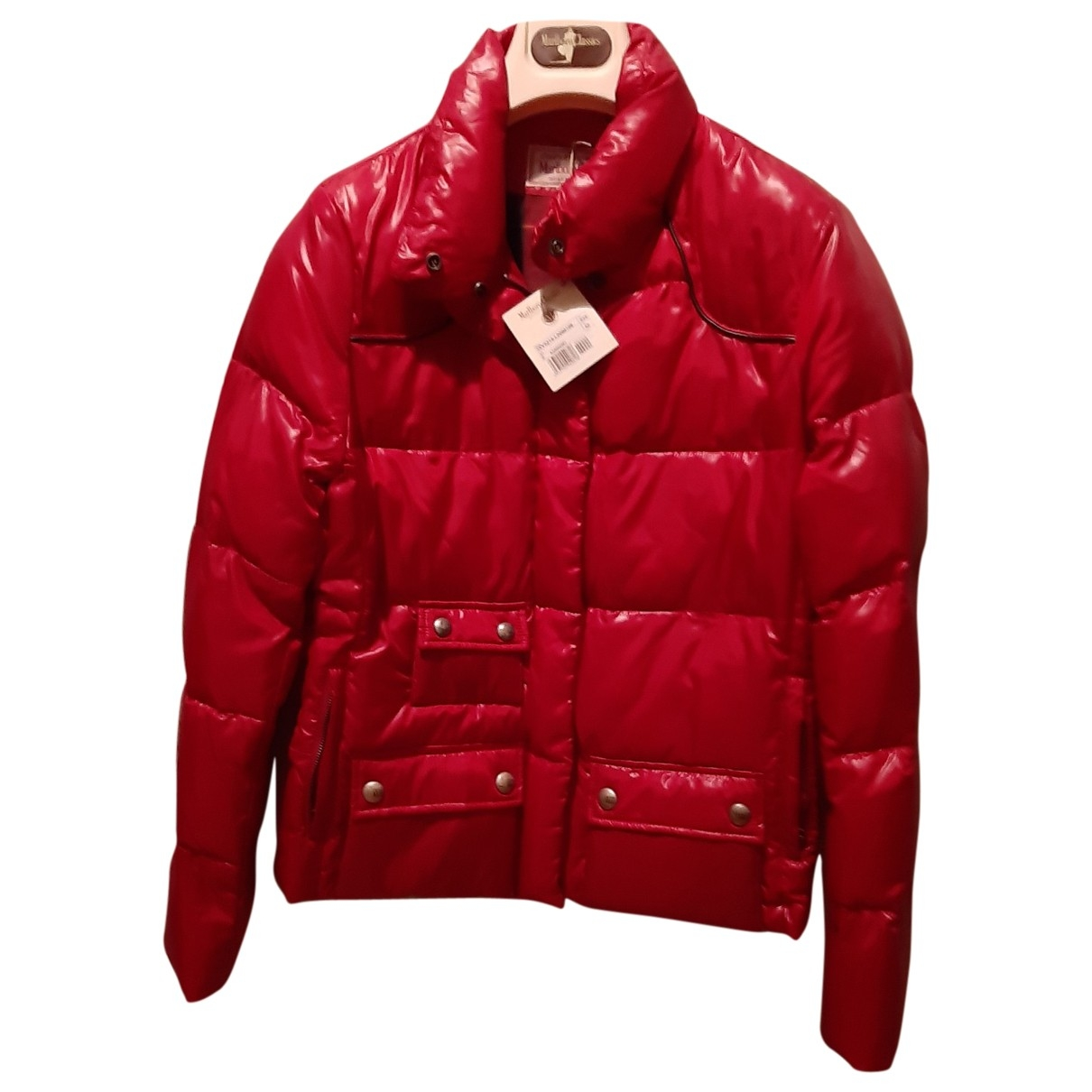 Non Signe / Unsigned \N Maentel in  Rot Polyester